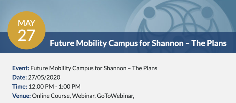 Webinar: Future Mobility Campus for Shannon – The Plans